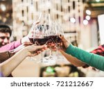 group of diverse culture... | Shutterstock . vector #721212667
