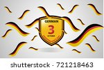 illustration of flag and shield ... | Shutterstock .eps vector #721218463