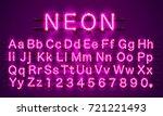 neon banner text. neon font... | Shutterstock .eps vector #721221493