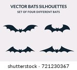 Vector Bats Silhouettes...