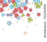 floral confetti falling on... | Shutterstock .eps vector #721242403