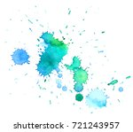 colorful abstract watercolor... | Shutterstock .eps vector #721243957