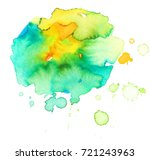 colorful abstract watercolor... | Shutterstock .eps vector #721243963
