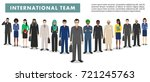 group of business men and women ... | Shutterstock .eps vector #721245763