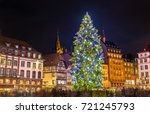 christmas tree at the famous...   Shutterstock . vector #721245793