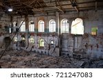 ruined interior of abandoned... | Shutterstock . vector #721247083