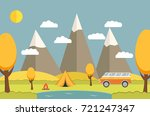 trip in on the nature in the... | Shutterstock . vector #721247347