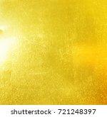 shiny yellow leaf gold foil... | Shutterstock . vector #721248397