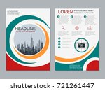 modern business two sided flyer ... | Shutterstock .eps vector #721261447