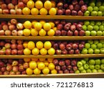 Many Fruits On Shelves At The...