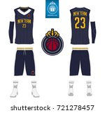 basketball jersey  shorts ... | Shutterstock .eps vector #721278457