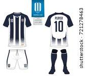 soccer jersey or football kit ... | Shutterstock .eps vector #721278463
