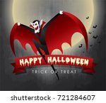 happy halloween vector... | Shutterstock .eps vector #721284607