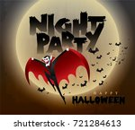 happy halloween vector... | Shutterstock .eps vector #721284613