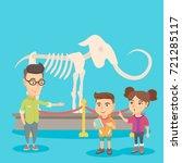 caucasian kids studying the... | Shutterstock .eps vector #721285117