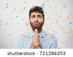 mournful emotional young...   Shutterstock . vector #721286353