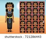 egypt black dress cartoon...