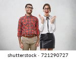 funny clumsy nerdy unshaven guy ... | Shutterstock . vector #721290727