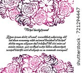 invitation with floral... | Shutterstock .eps vector #721294447