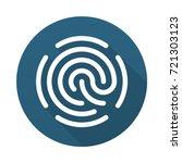fingerprint icon isolated on... | Shutterstock .eps vector #721303123