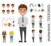 business man character design.... | Shutterstock .eps vector #721313023