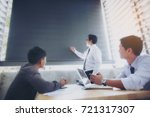businessmen who are sitting and ... | Shutterstock . vector #721317307