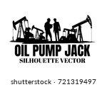 oil pump jack silhouette... | Shutterstock .eps vector #721319497