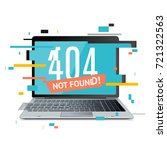 404 not found page in computer... | Shutterstock .eps vector #721322563