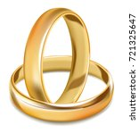 plain smooth gold shiny wedding ... | Shutterstock .eps vector #721325647