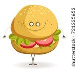 delicious vegan burger with... | Shutterstock .eps vector #721325653