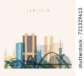 brasilia skyline detailed... | Shutterstock .eps vector #721329613