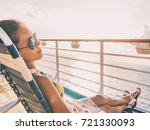 cruise ship vacation travel... | Shutterstock . vector #721330093
