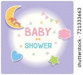 baby shower card for new born... | Shutterstock .eps vector #721333663
