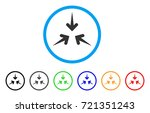 impact arrows rounded icon.... | Shutterstock .eps vector #721351243