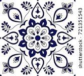 tile ornaments pattern vector... | Shutterstock .eps vector #721351543