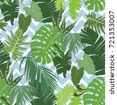 vector seamless tropical... | Shutterstock .eps vector #721353007