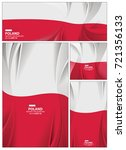 poland flag abstract colors... | Shutterstock .eps vector #721356133