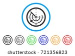 radar rounded icon. style is a... | Shutterstock .eps vector #721356823