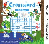 crosswords puzzle game of cute... | Shutterstock .eps vector #721356907