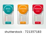 pricelist  hosting plans and... | Shutterstock .eps vector #721357183