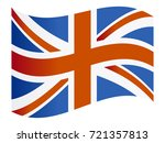 vector flag of united kingdom | Shutterstock .eps vector #721357813