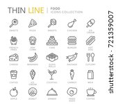 collection of food thin line... | Shutterstock .eps vector #721359007