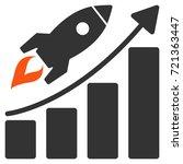 startup rocket growth chart...   Shutterstock .eps vector #721363447
