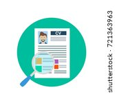 cv concept. review candidate by ... | Shutterstock .eps vector #721363963
