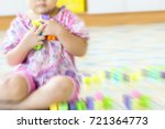 motion blur image of kid play... | Shutterstock . vector #721364773
