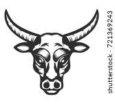 bull head icon on white... | Shutterstock .eps vector #721369243