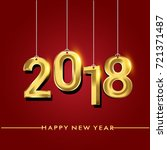 happy new year 2018 isolated on ...   Shutterstock .eps vector #721371487