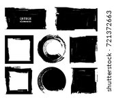 vector black white paint  ink... | Shutterstock .eps vector #721372663