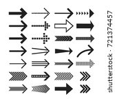 linear arrow icons set....