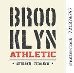 vintage brooklyn typography  t... | Shutterstock . vector #721376797